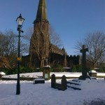 St Wilfrid's in snow by Christine Williams