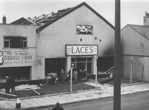 Lace's store on High Street after a fire. Submitted by Stan Aspinall