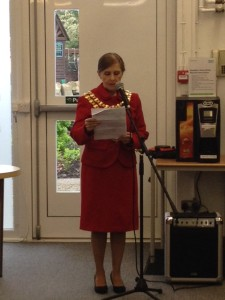 Wigan's Mayoress is guest of honour at Standish Library's 50th anniversary celebrations (May 9, 2015)