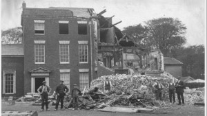 Demolition of Standish Hall: Image supplied by Stan Aspinall