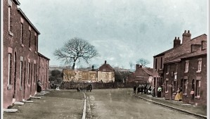 Junction of Almond Brook Road and Shevington Moor around 1900. Submitted by Stan Aspinall