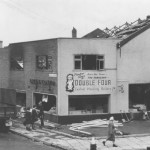 Lace's store on High Street, in the 1950s after a fire. Supplied by Stan Aspinall