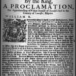 Proclamation against William Standish, 1694