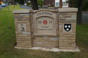 Standish Community Forum Gateway Marker, Rectory Lane, 2015
